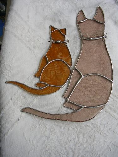 vitraux tiffany frances: gatitos con certficado de autor!