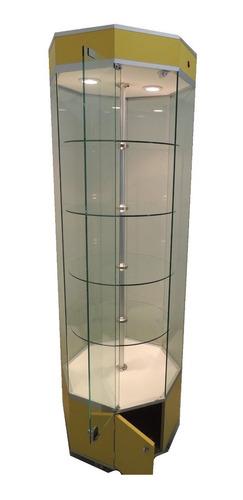 vitrina aparador de torre octagonal  exhibidora