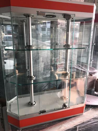 vitrina aparador mini exhibidor de cristal con chapa