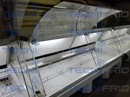 vitrina carnicera fiambrera esquinada en l y lineal