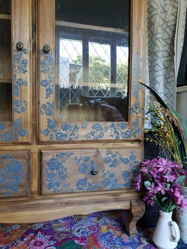 vitrina cristalero vajillero bajo provenzal tipo antiguo