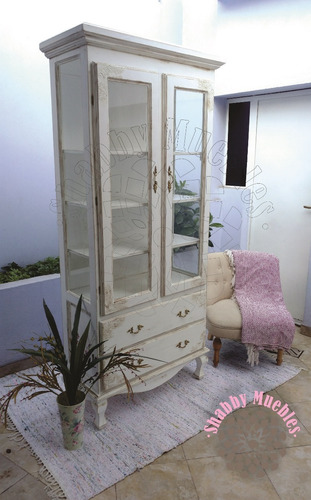 vitrina cristalero vajillero provenzal luis xv tipo antiguo