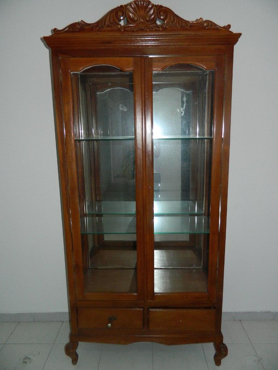 vitrina de madera y vidrio bs en mercado libre