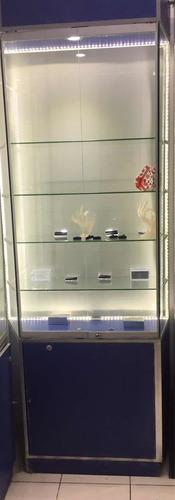 vitrina de melamine con vidrio