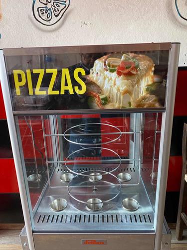 vitrina de pizzas