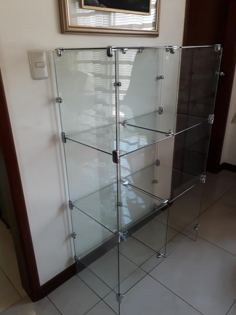 Vitrina de vidrio templado herrajes de acero inoxidable u s 450 00 en mercado libre - Herrajes de acero inoxidable ...