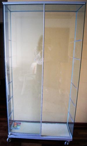 vitrina de vidrio y aluminio con certificado