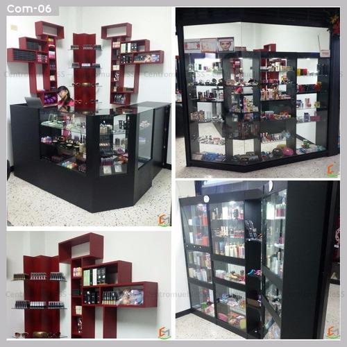 vitrina ehxibidor mostrador estante, diseño y fabricación