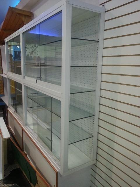 Vitrina en aluminio y vidrio bs en mercado libre - Vitrinas empotradas en pared ...