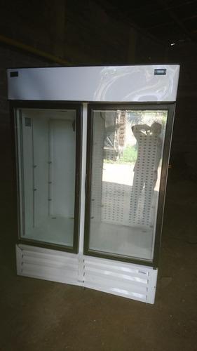 vitrina exhibidora mixta refrigerador y congelación