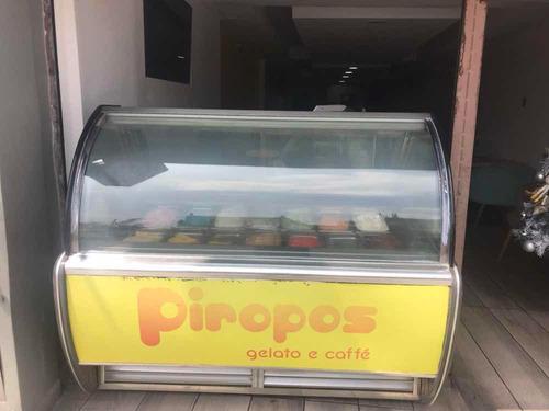 vitrina exibidora de helados artesanales
