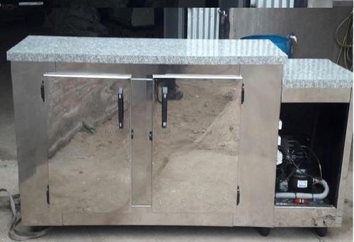 vitrina heladera mostrador 2 mts iluminacion led fabrica