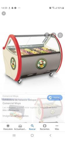 vitrina helados gelopar 16 bachas control automatico