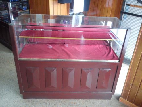 vitrina mostrador  exhibidor de madera maciza