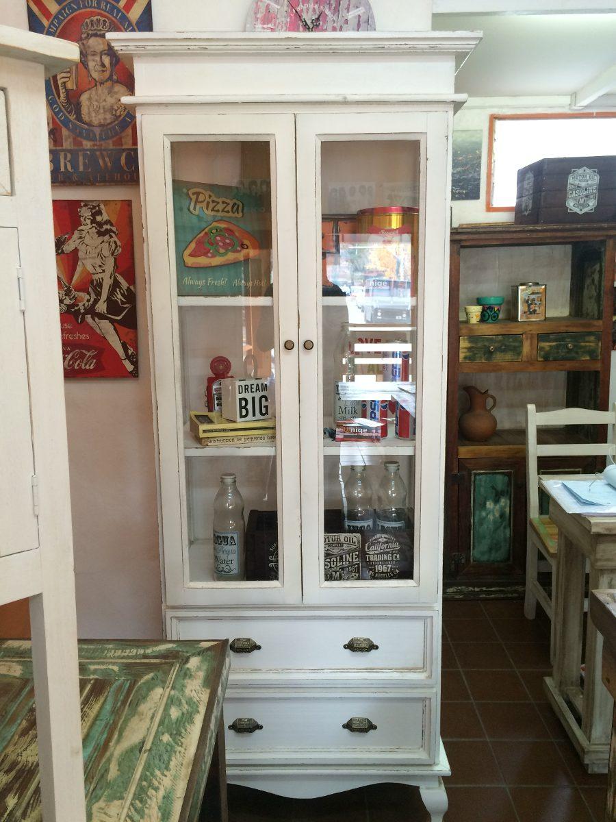 Vitrina O Mueble Rustico Decapado Estilo Vintage Ingles 9 999  # Muebles Estilo Vintage