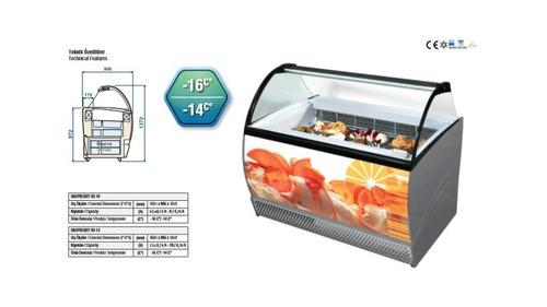 vitrina para helados gelato fabricación italiana