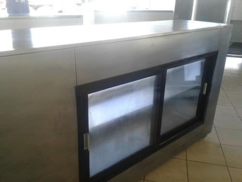 vitrina refrigerante torrey acero inoxidable