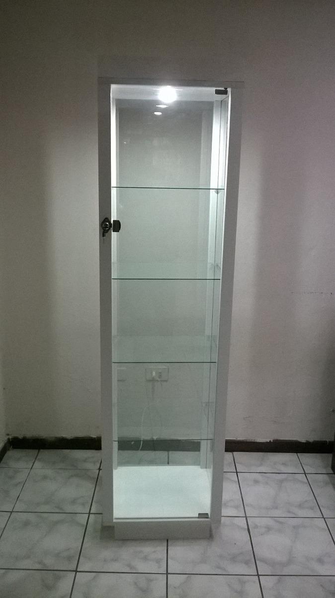 Vitrina torre y vitrina mostrador y mueble de caja - Vitrinas blancas baratas ...