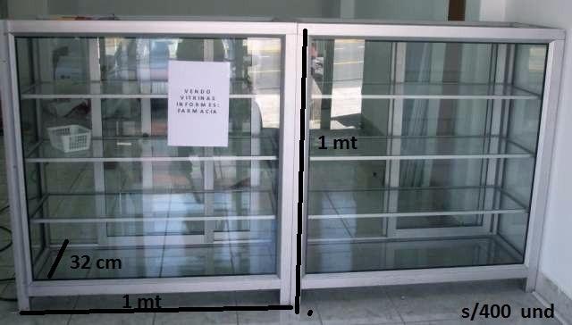 Vitrinas de vidrio y aluminio medidas estandar o se for Lista de materiales de cocina