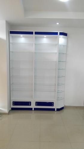 vitrinas droguería, farmacia, muebles pastilleros, farmaline