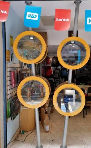 vitrinas exclusivas en inox / vidrio con puertas de acrilico