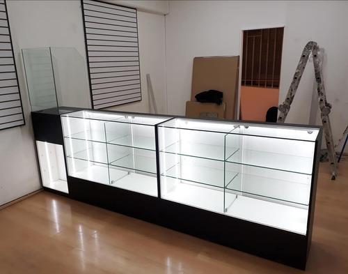 vitrinas. vitrinas murales y mesones. muebles comerciales