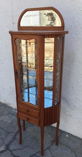 vitrine cristaleira marchetada vidros estilo veneziano