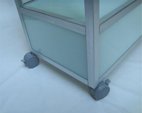 vitrine expositor estante torre balcão  de vidro c/ porta