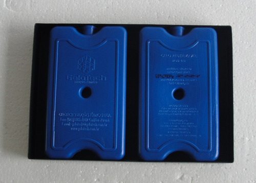 vitrine fria dupla 62 cm - com placas gel - marca omega