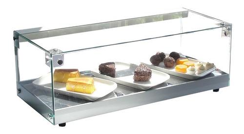vitrine fria omega - linha luxo  1,50 mt  v. plano- c/ led