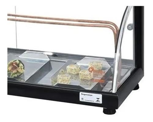 vitrine omega p/ sushi vidro curvo 1,30 mt - frete gratis !!
