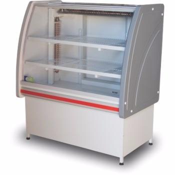 vitrine refrigerada 1.25 p/doces - vidro semi curvo