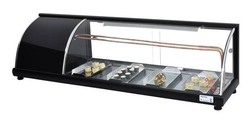 vitrine refrigerada grande p/ sushi 1,90 mt v. curvo- omega