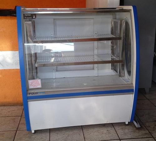 vitrine refrigerada para bolo doces premium 1,00m polofrio