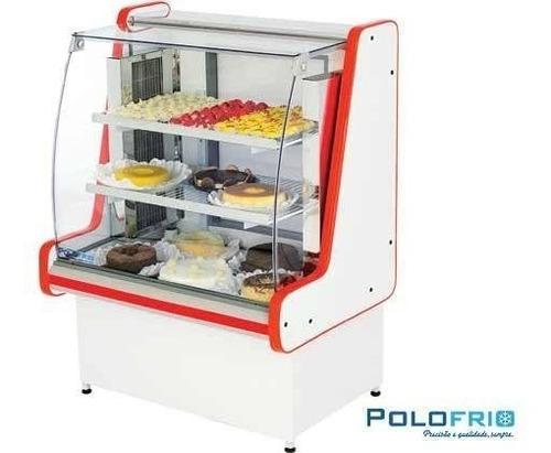 vitrine refrigerada para bolos e doces pop luxo 1,25m