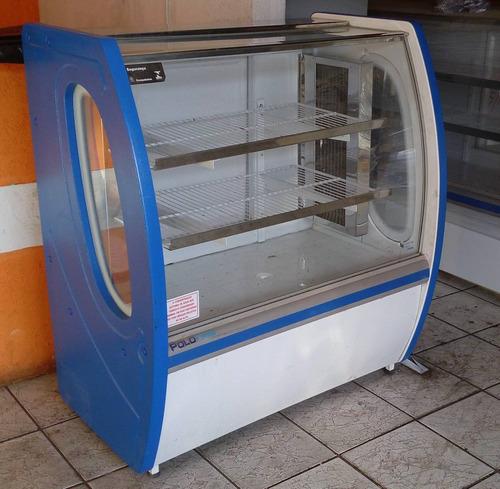 vitrine refrigerada para bolos e doces premium 1,00m