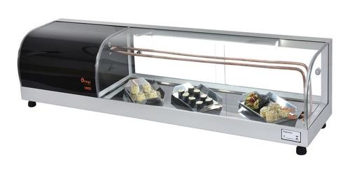 vitrine sushi case refrigerada omega - v. semi curvo 1,35 mt