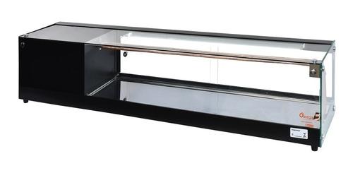 vitrine sushi case refrigerada  - premium retilínea 1,50 mt
