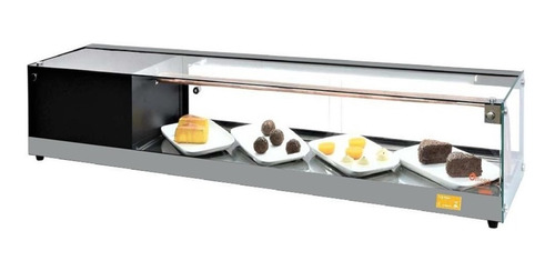 vitrine sushi - marca omega - l. luxo vidro plano 1,50 mt