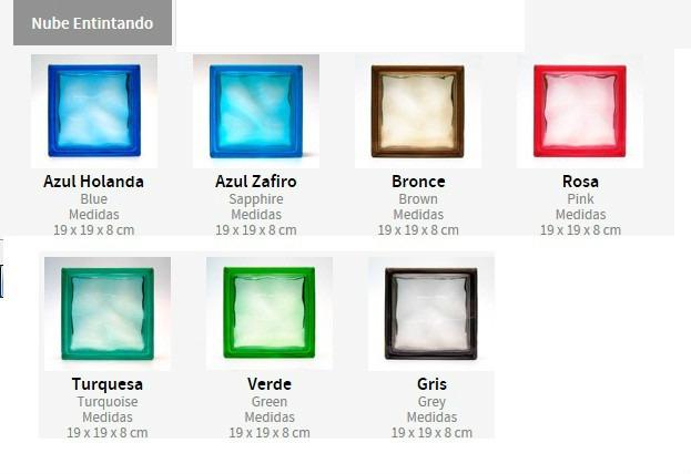 Vitro block nube 19x19x08 traga luz panel en - Ladrillos de cristal medidas ...