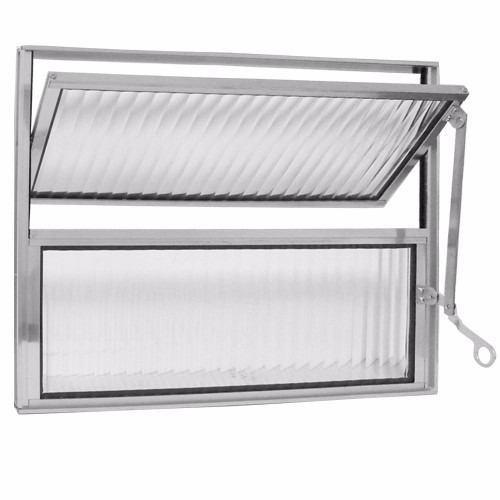 vitro de aluminio para banheiros basculante 0,40x0,40 trifel