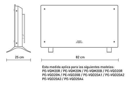 vitroconvector calefactor peabody pe-vqd20 curvo 2000w