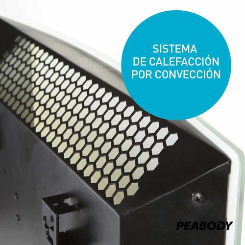 vitroconvector curvo 2000w peabody pe-vqm20 negro
