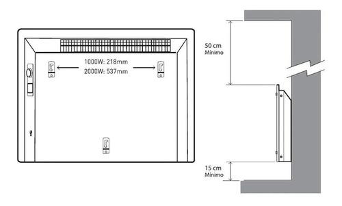 vitroconvector estufa peabody 2000w con termostato pe-vc20rn