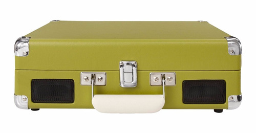 vitrola portátil crosley cruiser verde oliva vintage retrô