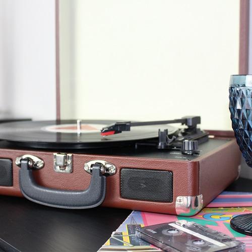 vitrola toca discos de vinil conversor maleta frete gratis