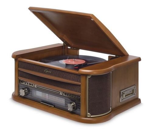 vitrola toca discos de vinil raveo opera grava/usb (986248)