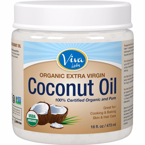 viva labs the finest orgánica extra virgen aceite de coco
