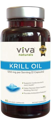 viva naturals premium antarctic krill oil - suplemento de