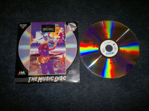 viva santana  en formato laser disc